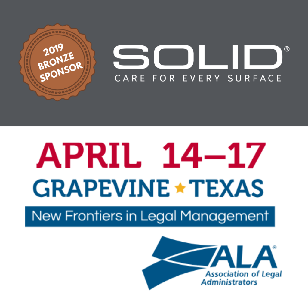 ALA National Conference Expo Bronze Sponsor SOLID Surface Care