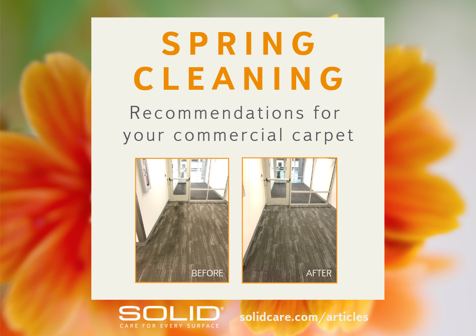 spring cleaning for commercial carpet facility management