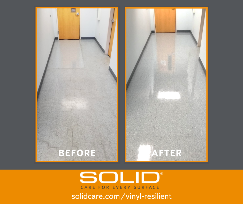 SOLID Surface Care BEFORE and after VCT maintenance Hall