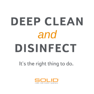 COVID 19 Deep Clean and Disinfectant recommendations
